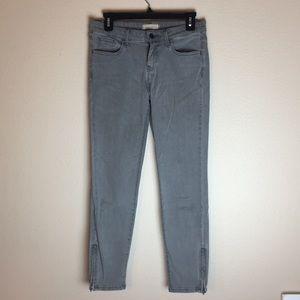 UNIQLO - Gray Stretch Skinny Jeans w/ Ankle Zipper
